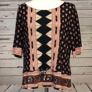 Lucky Brand Tops - Lucky Brand Large Boho Western Paisley Top Tie